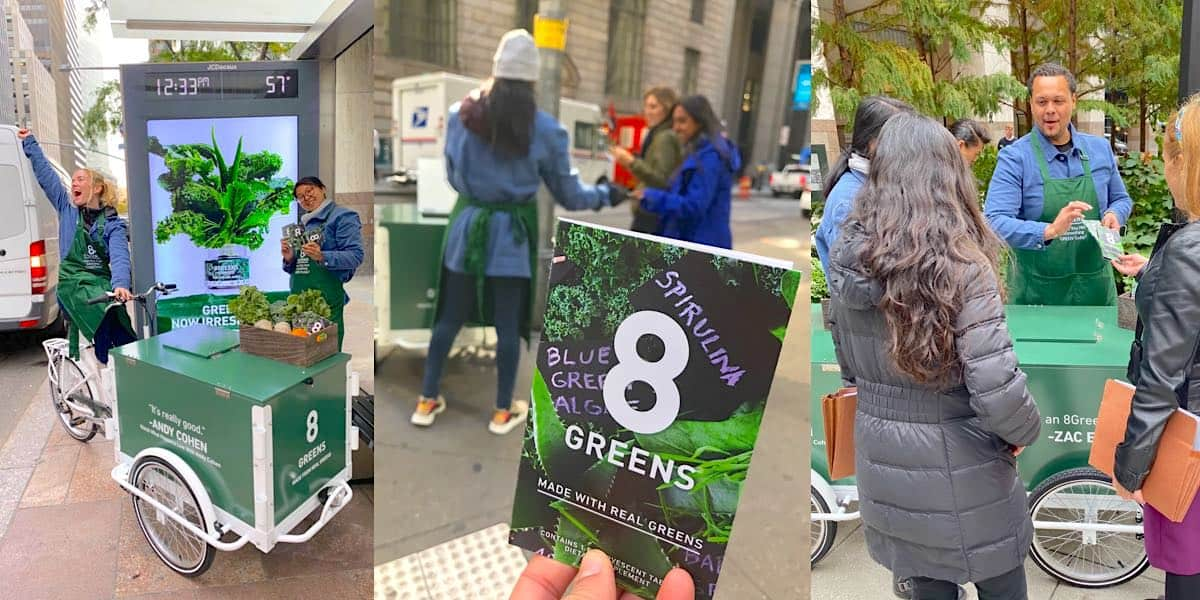8Greens Street Team Consumer Engagement Product Sampling - Financial District, New York City