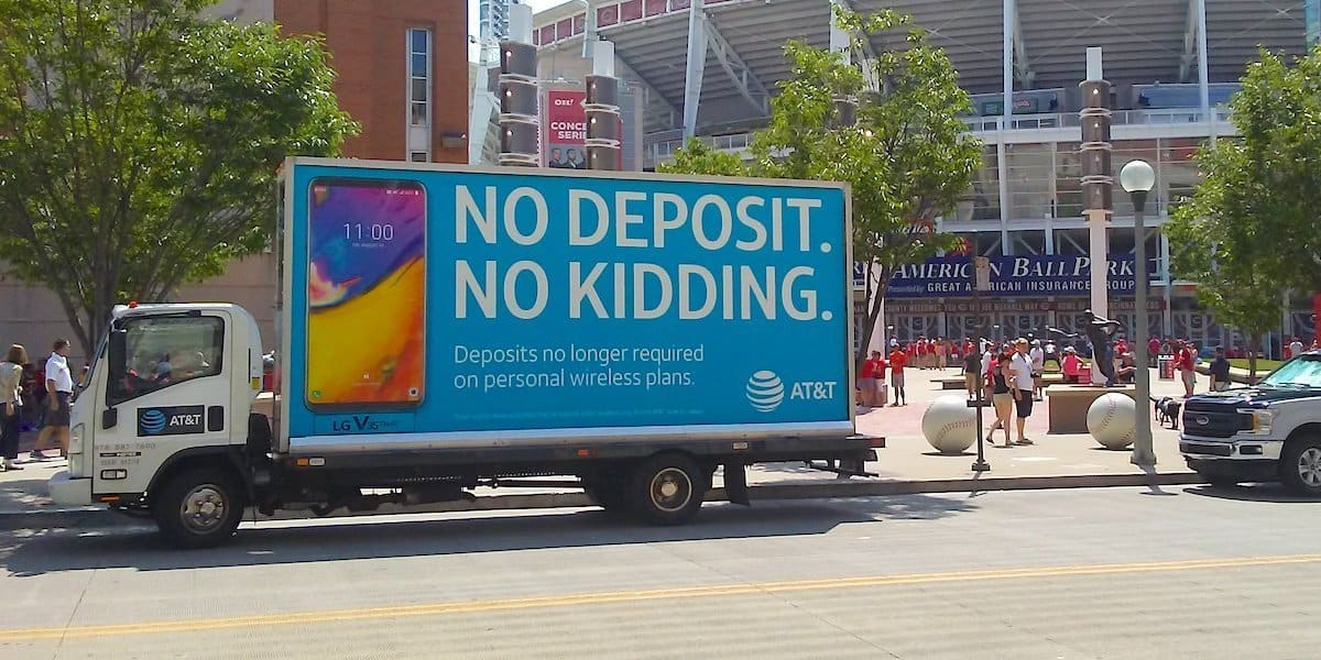 AT&T LG Electronics Mobile Billboard Advertising - Cincinati, OH