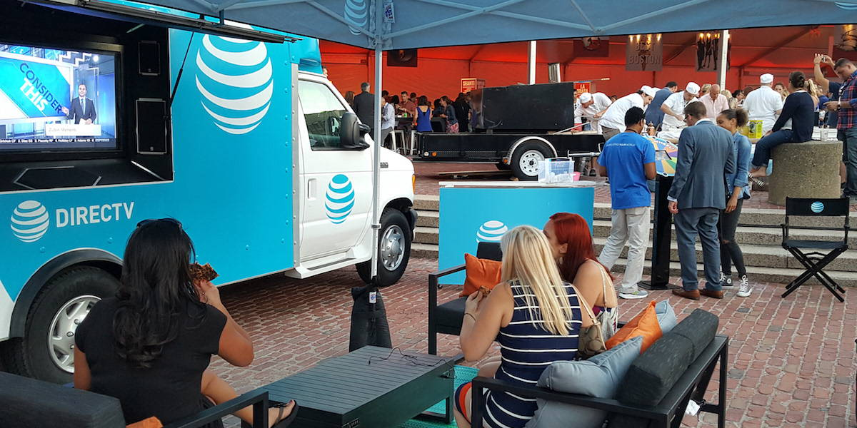 AT&T DirecTV Event Marketing Video Screen Vehicle - Boston, MA