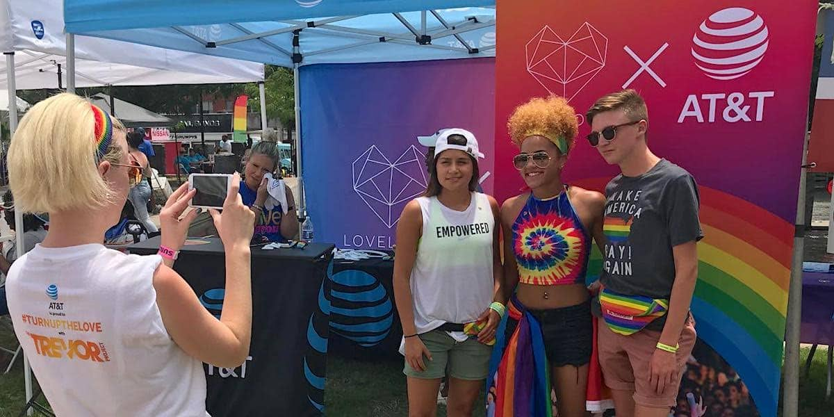 AT&T Pride Festival Experiential Marketing Activation - Columbus OH