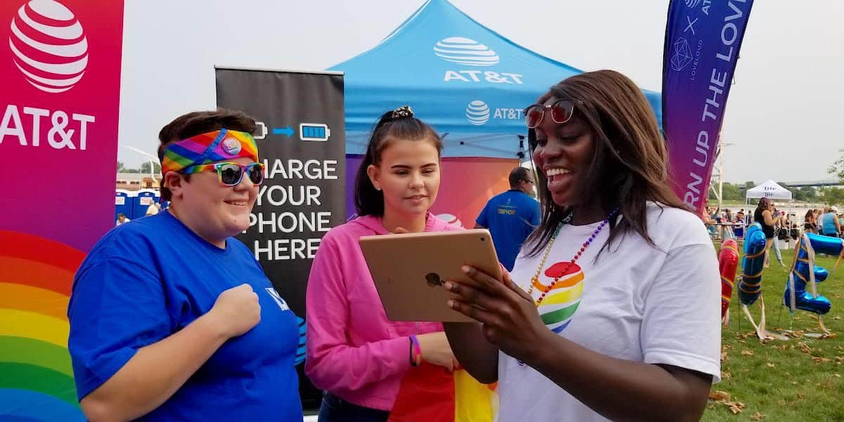 AT&T Pride Festival Experiential Marketing Activation - Toledo OH