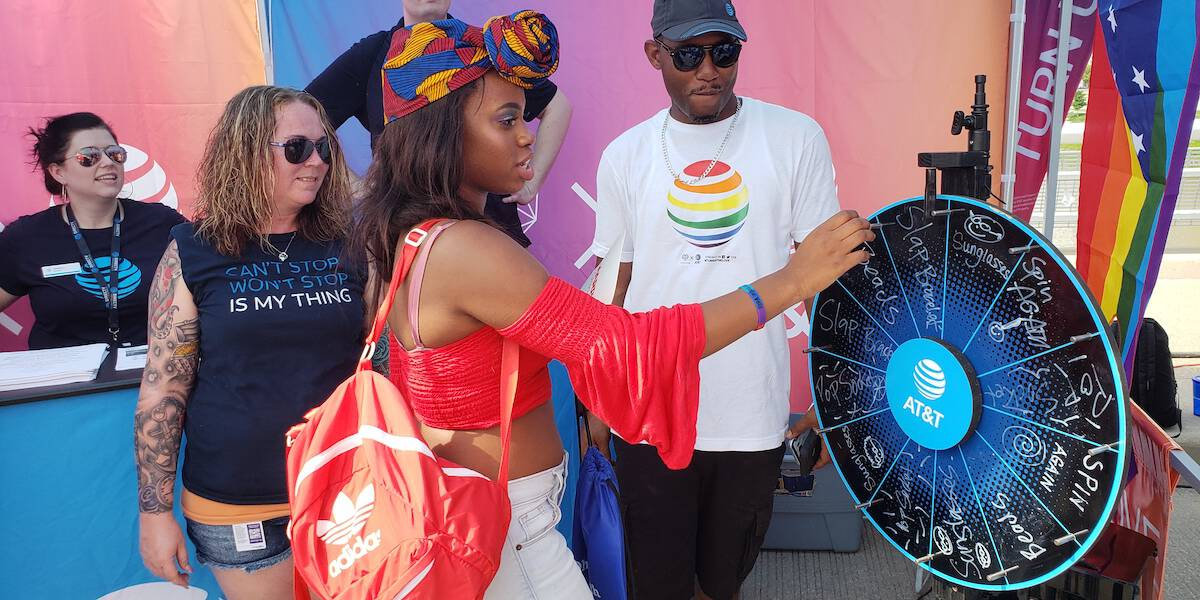 AT&T Pride Festival Experiential Marketing Activation - Washington, DC