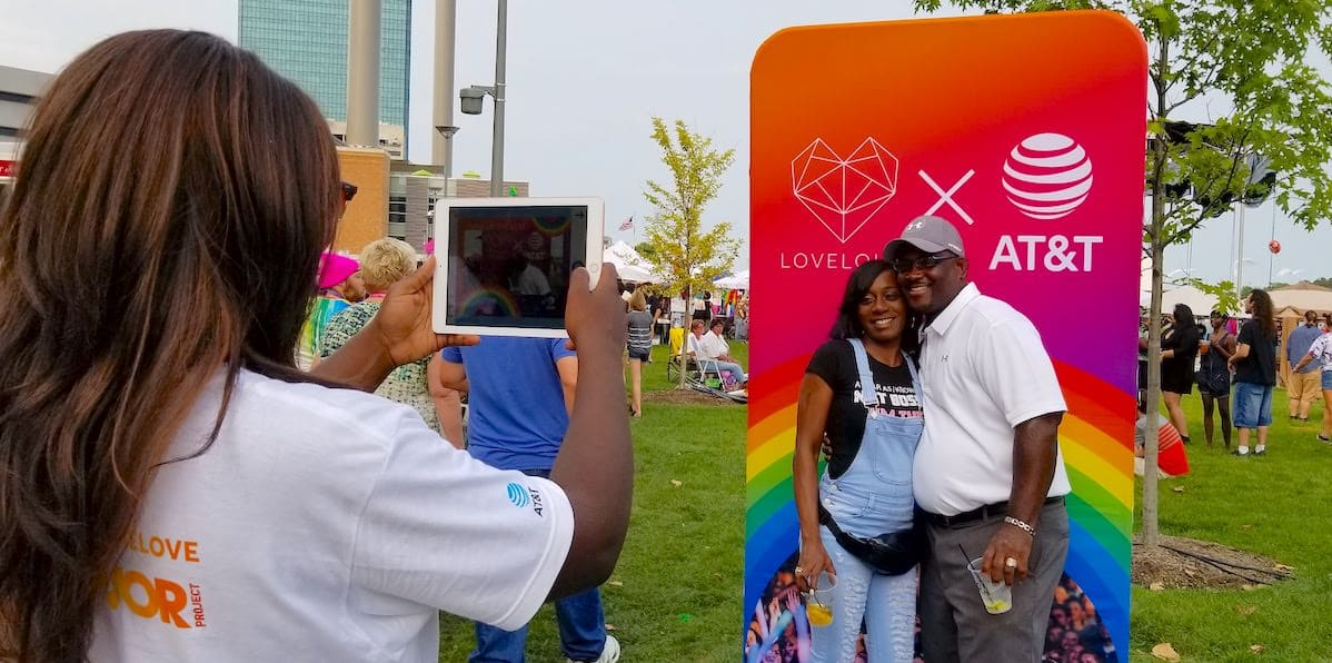 AT&T Pride Festival Marketing Activation - Toledo, OH