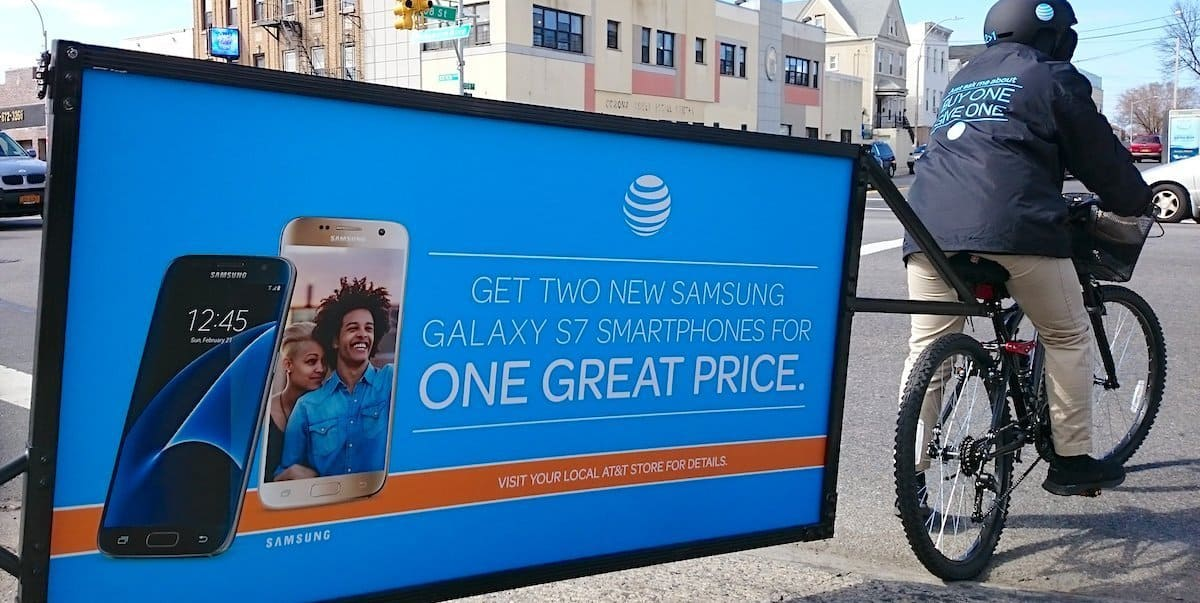 AT&T Bike Billboard Outdoor Advertising NYC