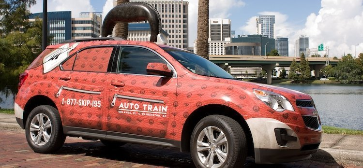 Amtrak Creative Mobile Billboard Advertising Example - Orlando, FL