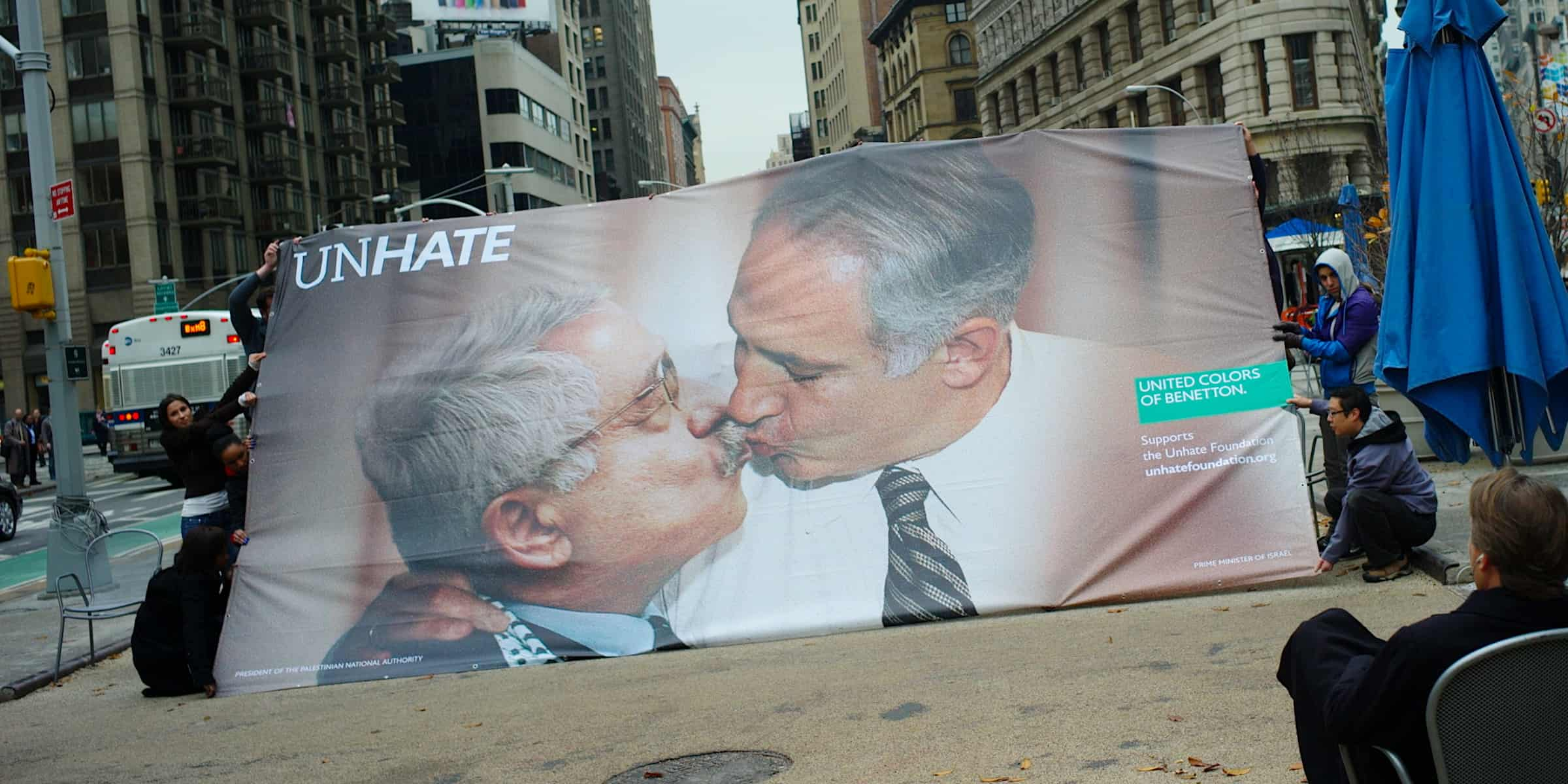 Benetton Brand Activism Marketing Activation UnHate Campaign - New York City