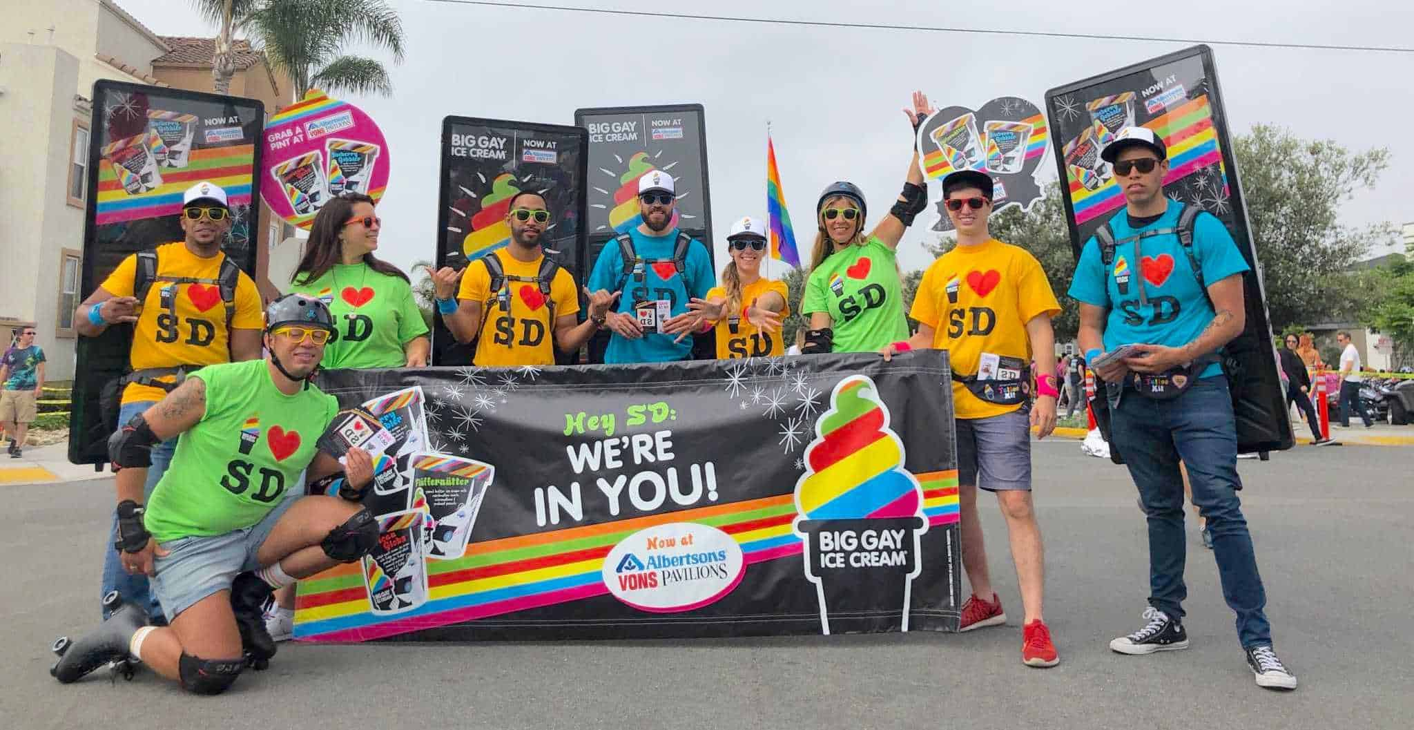 Big Gay Ice Cream SD Pride March Brand Activation - San Diego