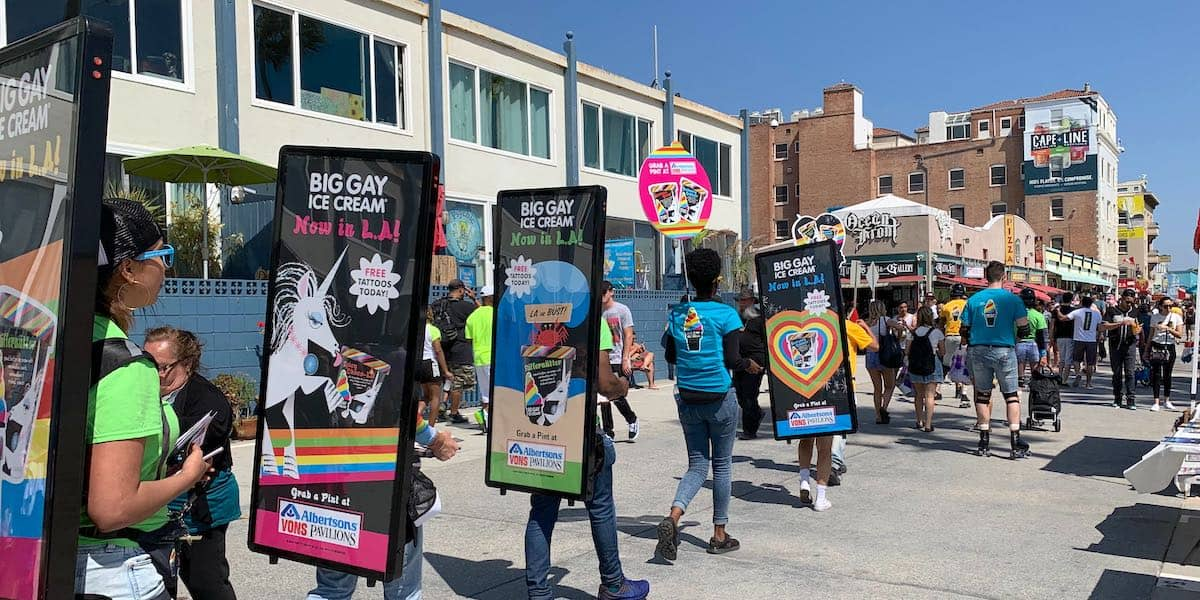 Big Gay Ice Cream Walking Billboard Street Product Sampling Team - Venice Beach, CA