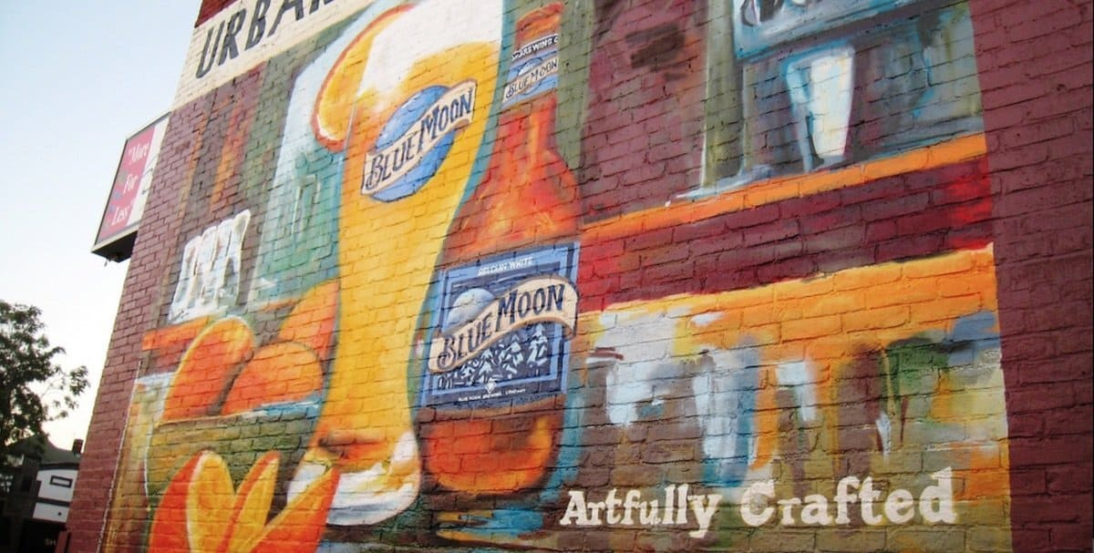 Blue Moon Hand Painted Billboard Outdoor Advertising Mural - Allston, Boston