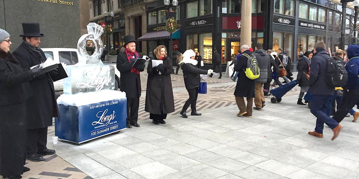 Christmas Holiday Retial Marketing Stunt Activation - Downtown, Boston