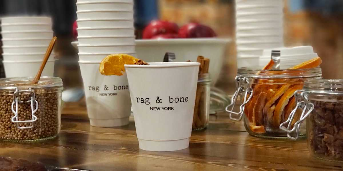 Rag & Bone Cider Coffee Bar Retail Marketing - NYC