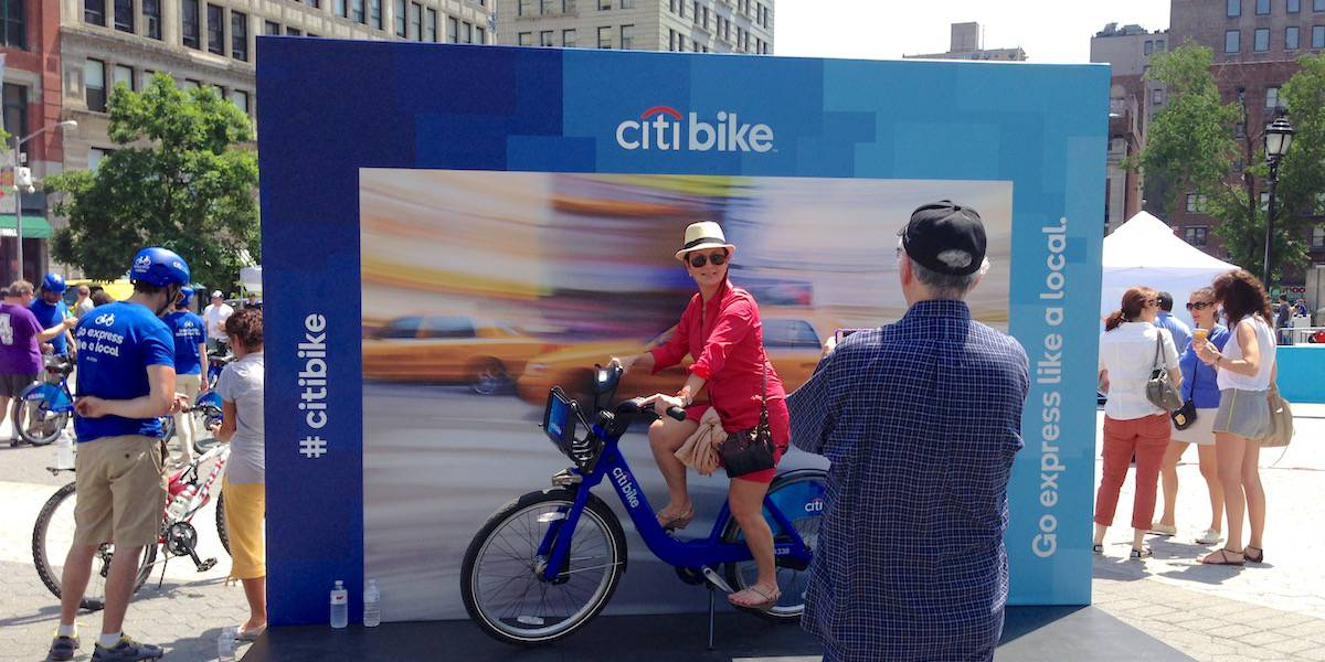 Citibank Experiential Marketing Event Step & Repeat - Union Square, New York City