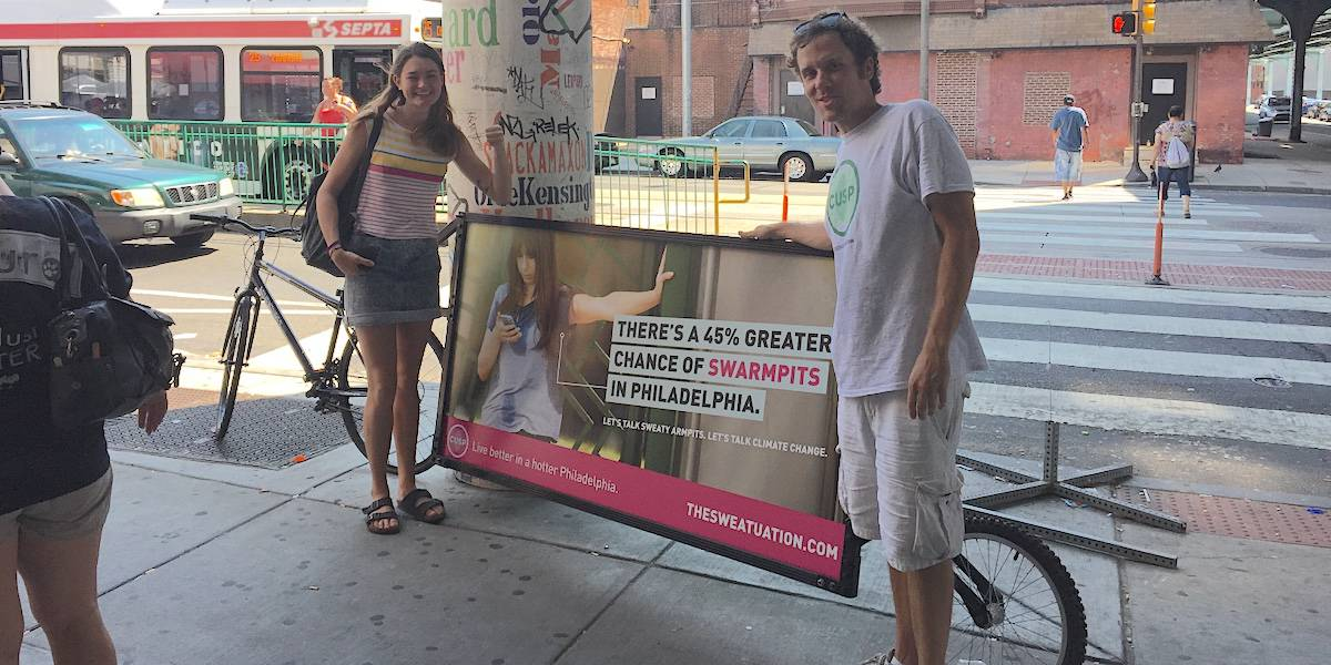 Climate Change Awareness Guerrilla Strategies Marketing - Philadelphia