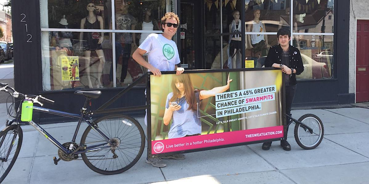 Climate Change Bike Billboard Community Marketing - Philadelphia
