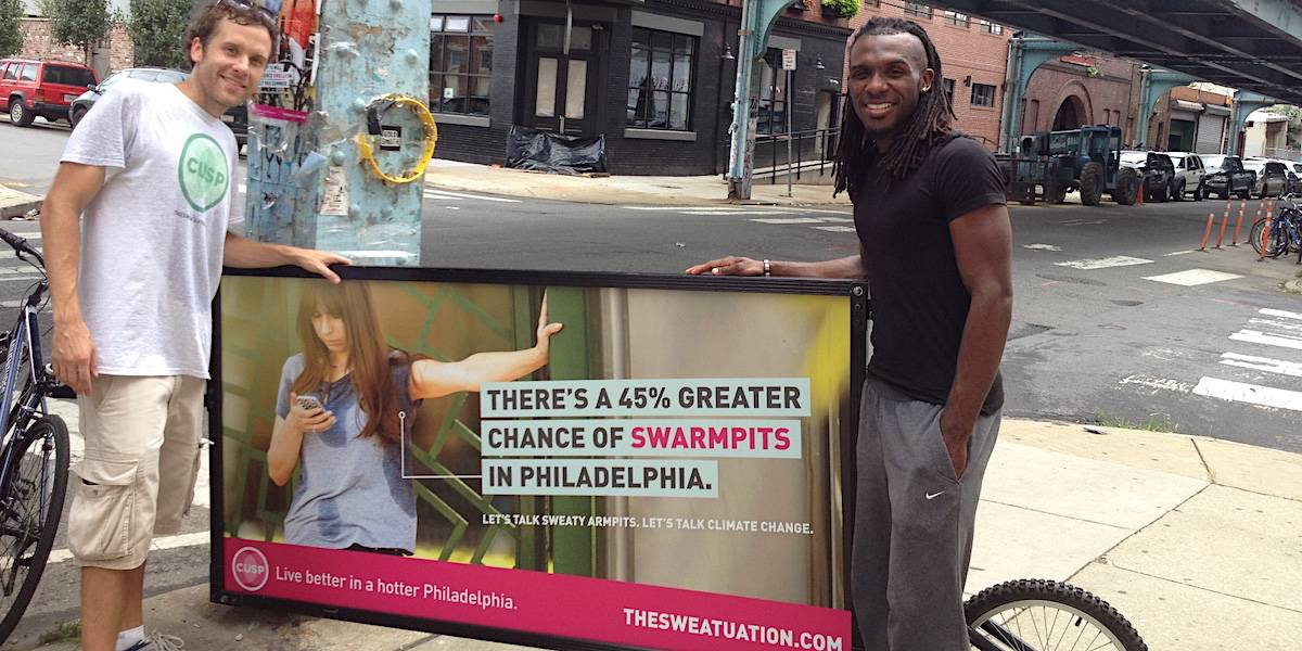 Climate Change Bike Billboard Outdoor Advertising - Philadelphia
