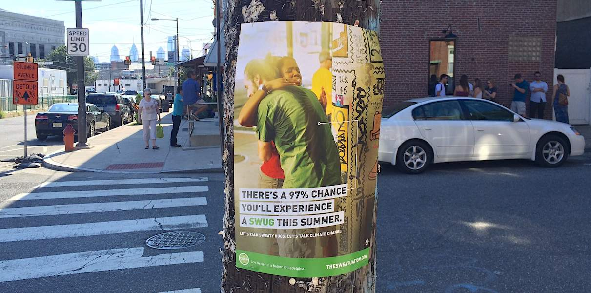 Climate Change Guerrilla Marketing Street Poster Advertising - Philly