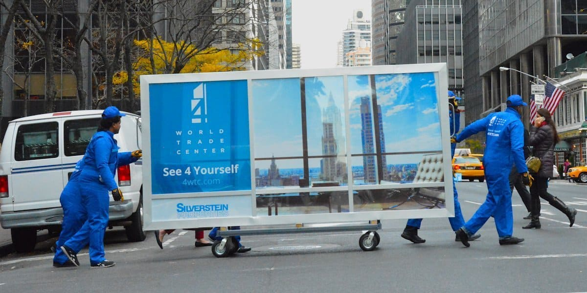 Creative Mobile Billboard Cart - Midtown East, New York City