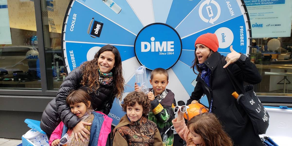 Dime Community Bank Branch Opening Marketing Activation Prize Wheel Marketing Activation - Williamsburg, Brooklyn