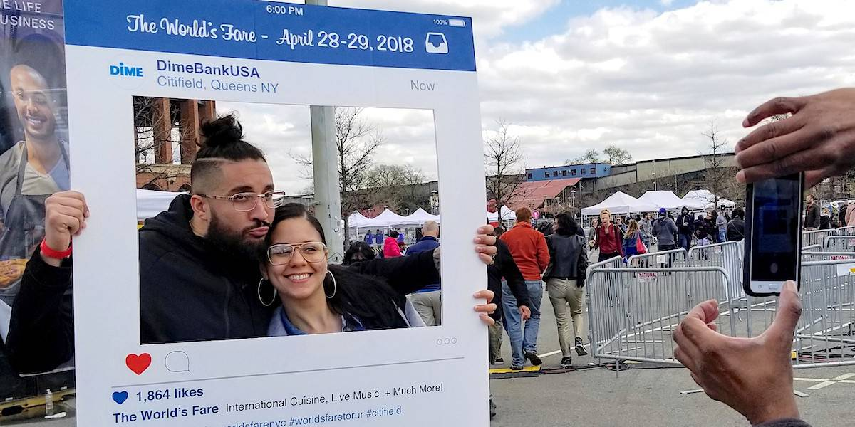Dime Community Bank Hand-held Instagram Frame Event Festival Marketing - Citi Field Queens, New York City