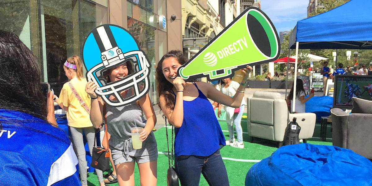 DirecTV Now NLF Sunday Tailgating Activation - Back Bay, Boston