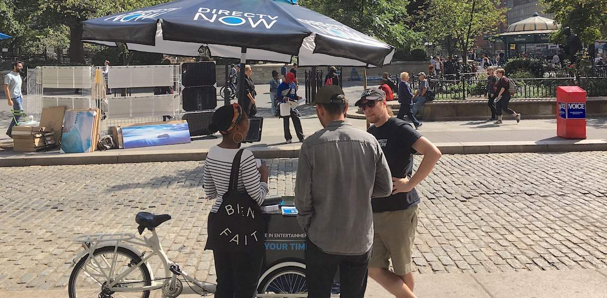 DirecTV Now Street Marketing Kiosk - Union Square, New York City