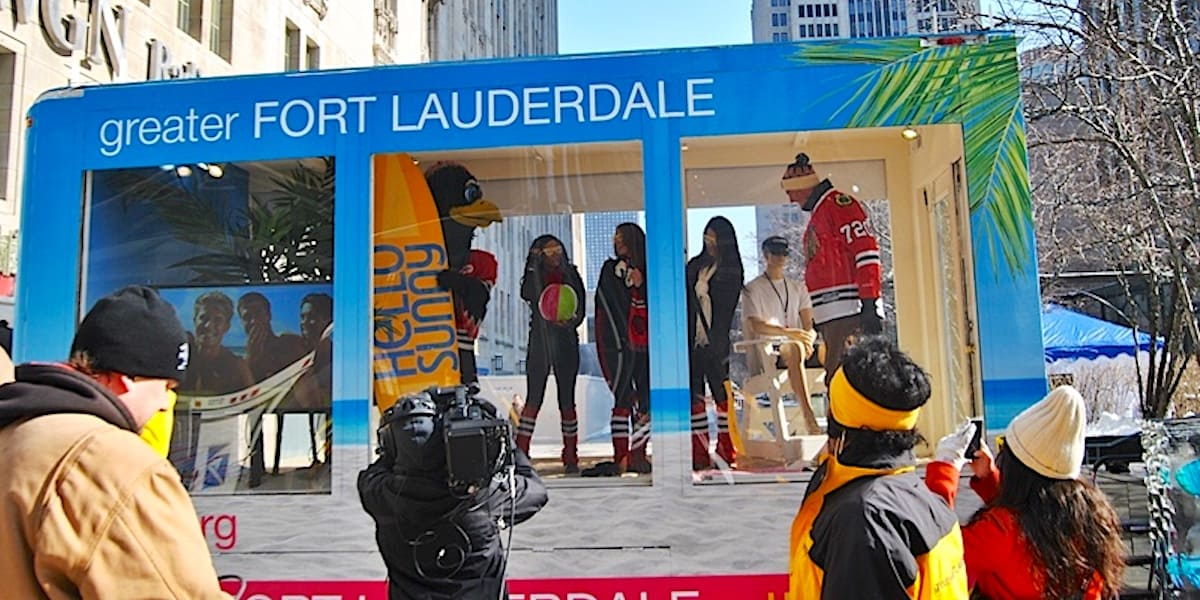 Ft. Lauderdale Tourism Mobile Experiential Marketing Event Vehicle Example - Michigan Ave, Chicago