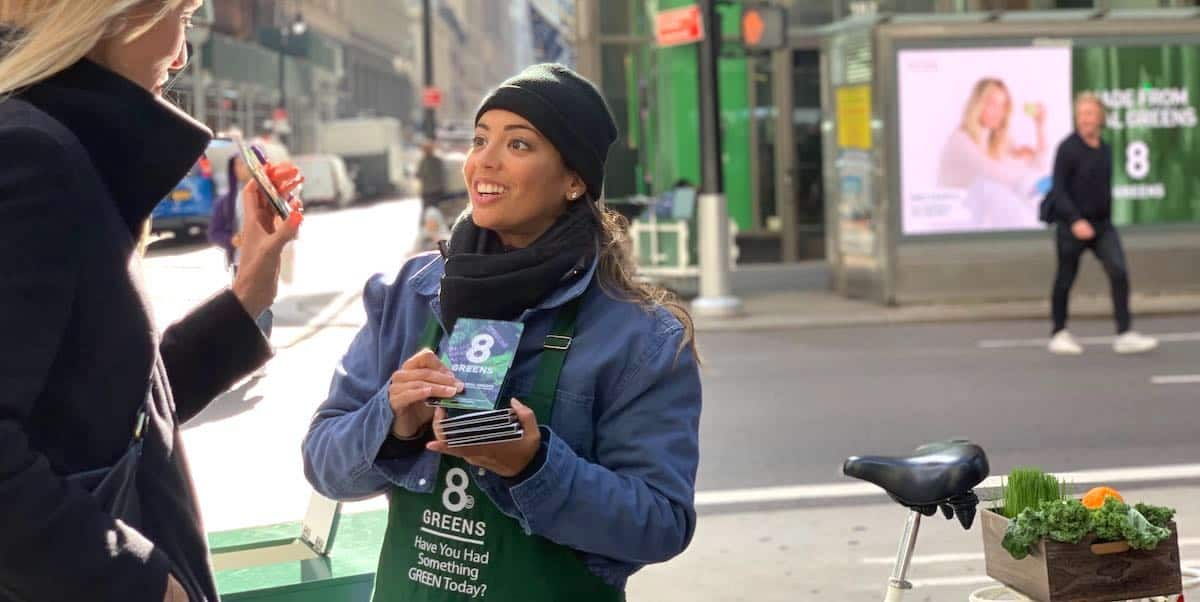Superfoods Supplement Product Sampling Street Marketing Activation - Financial District, NYC