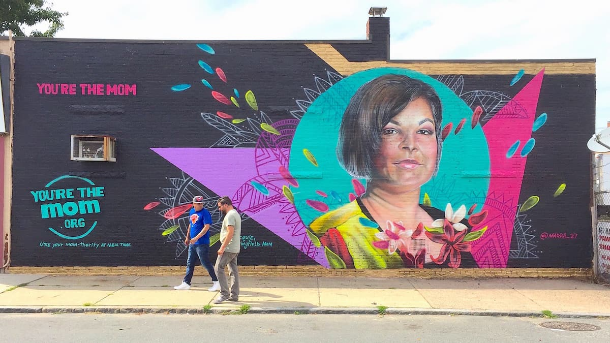 Healthy Eating Nonprofit Organization Cause Marketing Street Art Mural, Springfield, MA