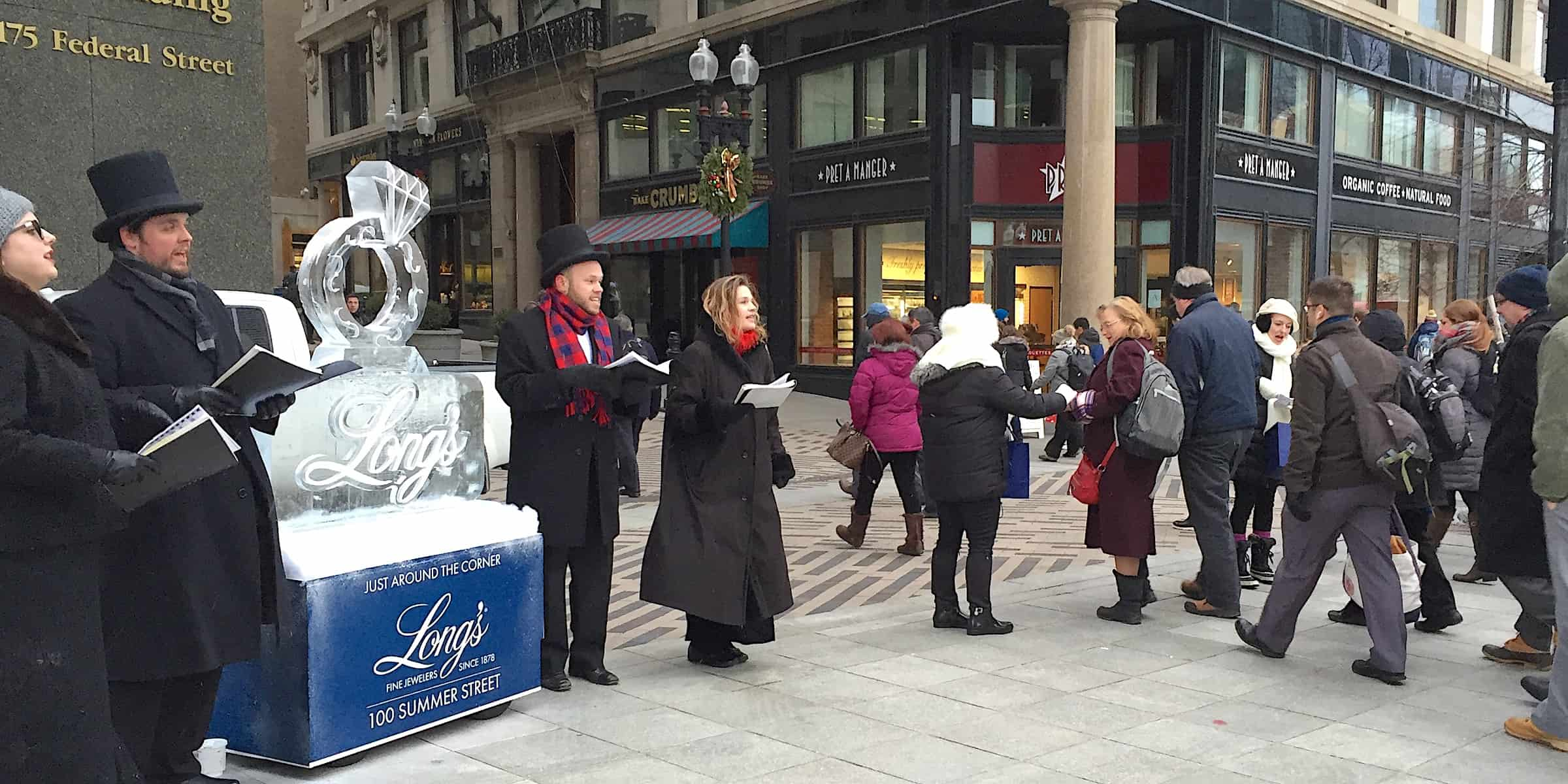 Holiday Season Carolers Experiential Retail Marketing Promotion Idea Company - Boston
