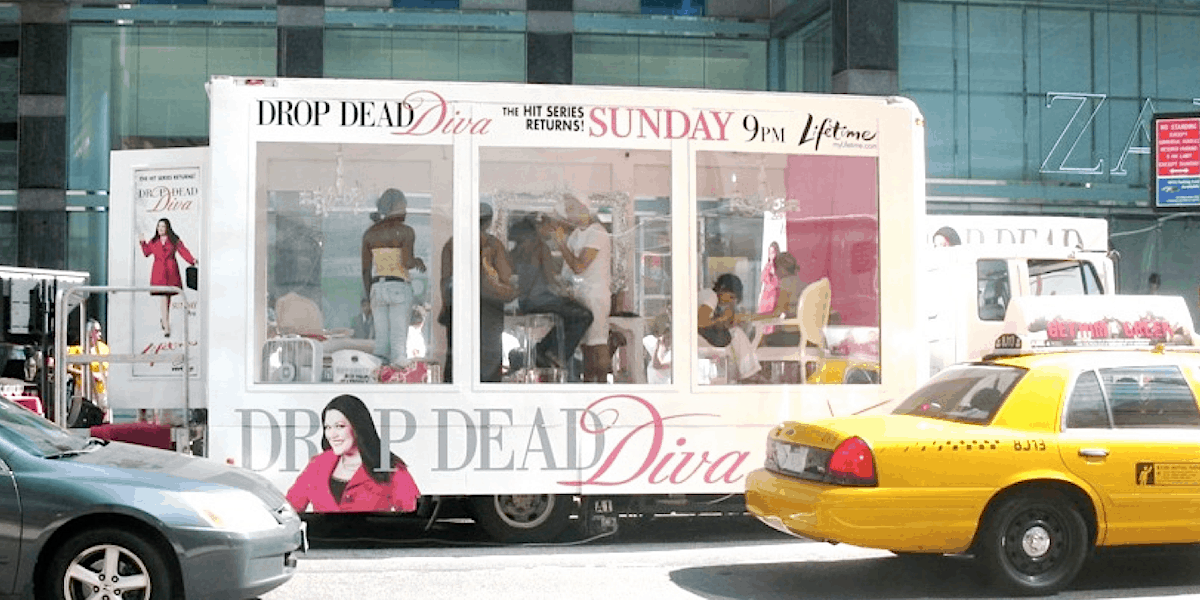 Lifetime TV Series Mobile Makeover Showroom Vehicle - Midtown, Manhattan