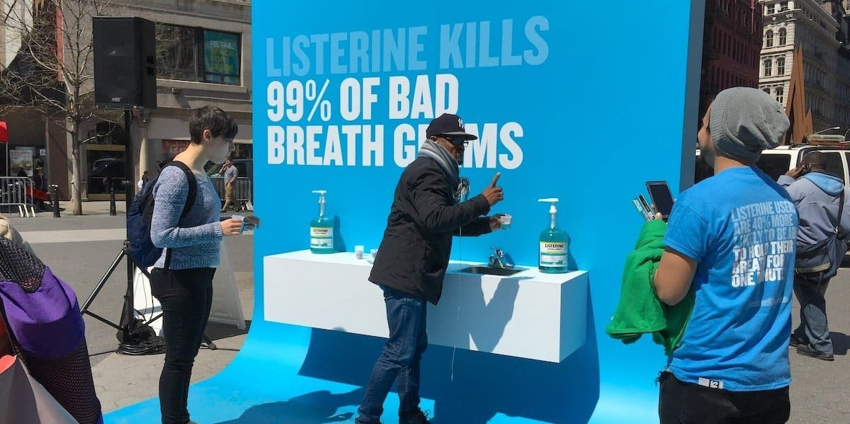 Listerine Brand Product Sampling Activation - Union Square, New York City
