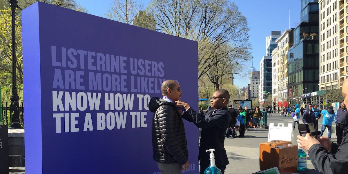 Listerine Mouthwash Experiential Marketing Event - Union Square North, New York City