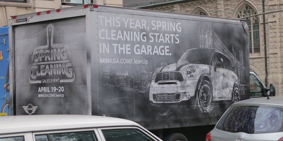 MINI Cooper Creative Outdoor Advertising Example - New York City