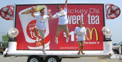 McDonald's Creative Mobile BIllboard Advertising Marketing