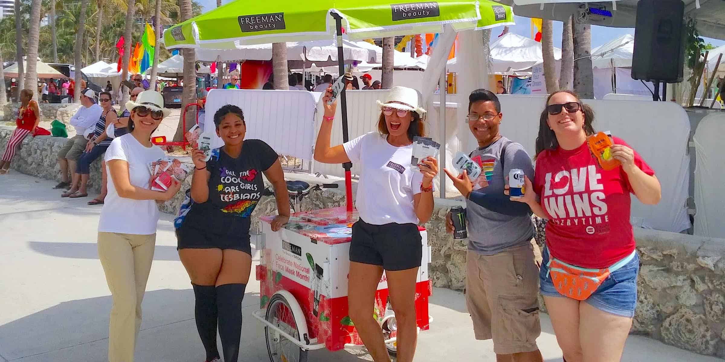 Miami Pride Festival Brand Marketing Activation - South Beach, Miami