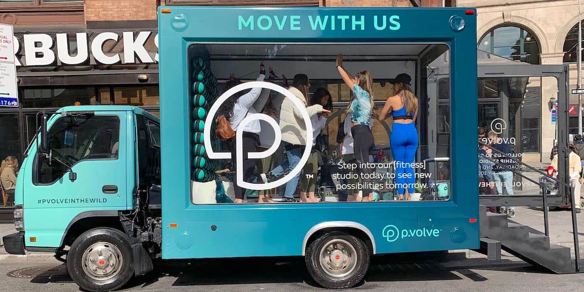 Mobile Fitness Studio Experiential Marketing Vehicle Activation - Astor Place, NYC
