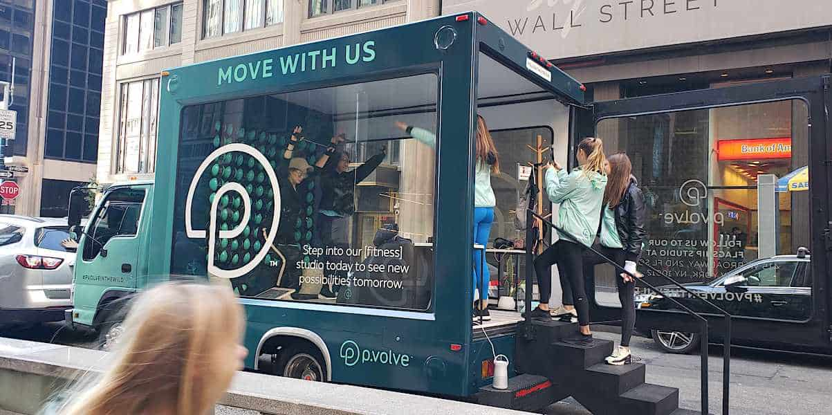 Mobile Pop-up Showroom Yoga Studio Vehicle Experiential Marketing Activation - NYC