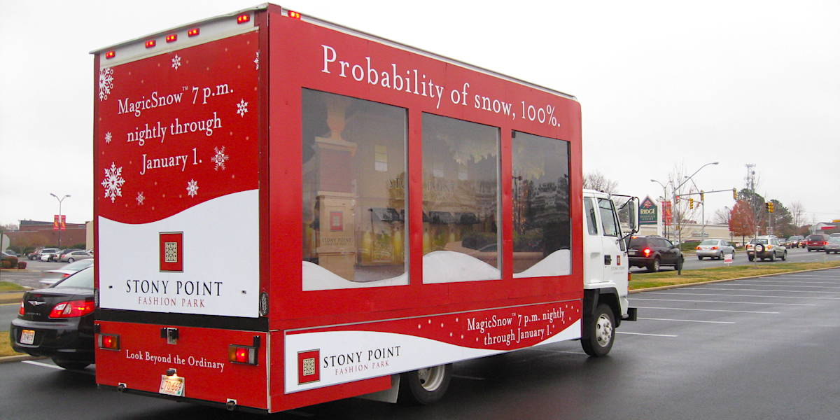 Mobile Showroom Brand Diorama Installation Glass Wall Truck Billboard - Reston, VA