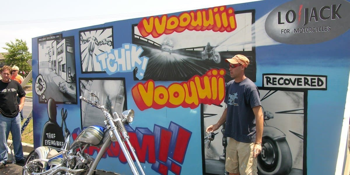 Motorcycle Festival Live Painted Mural Event Marketing - South Carolina