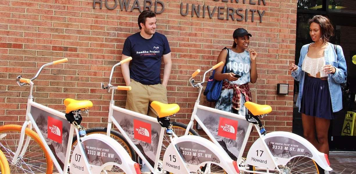 North Face College Campus Marketing Bicycle Billboard - Howard University