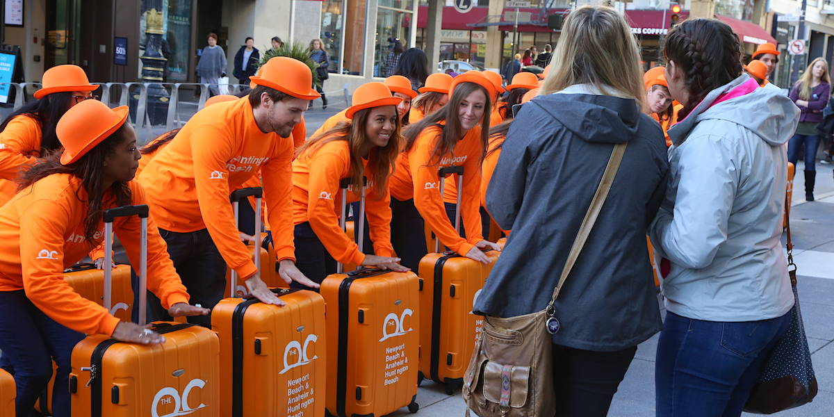 Orange County Tourism Street Team Flash Mob Experiential Marketing Activation - Union Square, San Francisco