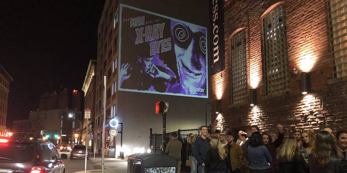 Outdoor Building Projection Advertising Company Example - Seaport, Boston