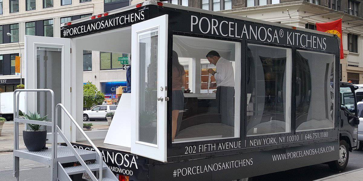 Mobile Popup Shop Showroom Experiential Marketing Truck in New York City