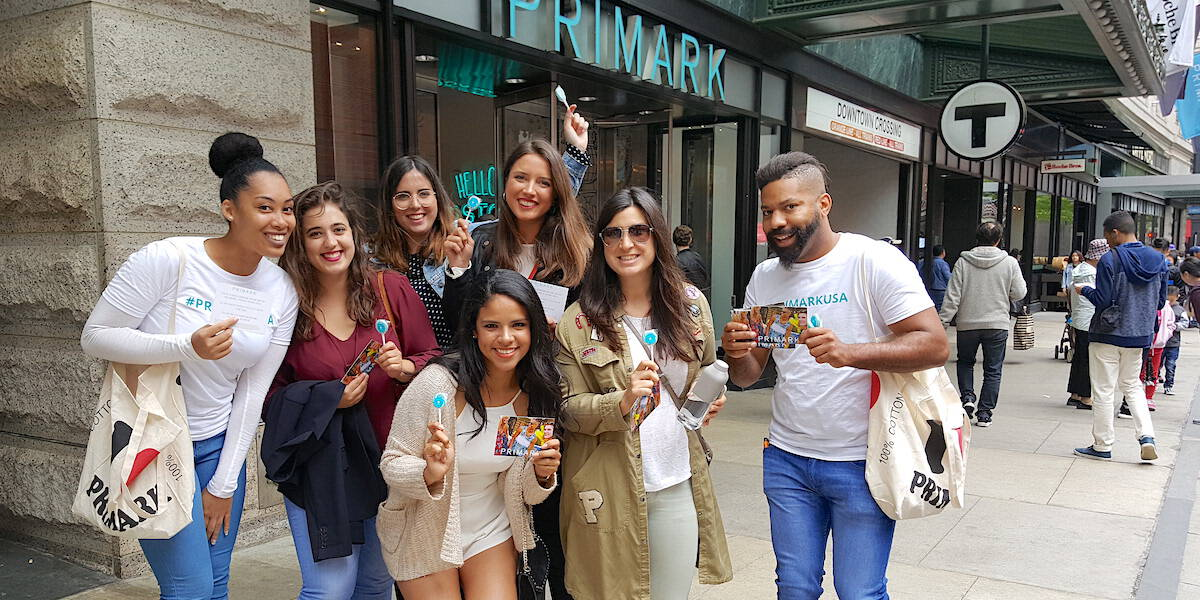 Primark Street Team Toe Bag Giveaway Promotion Marketing Activation - Boston, MA