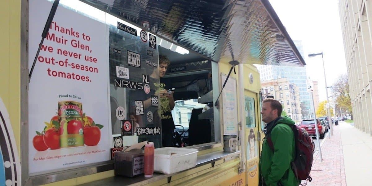 Muir Glen Tomatoes Food Truck Product Sampling Marketing Example - Back Bay, Boston