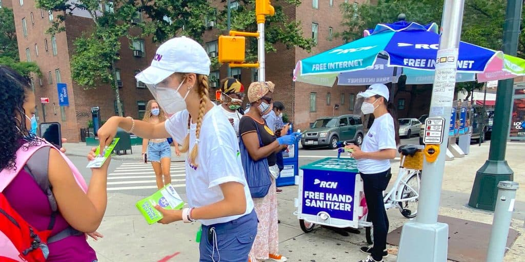 RCN Street Marketing Cart Team Activation - Manhattan, New York City