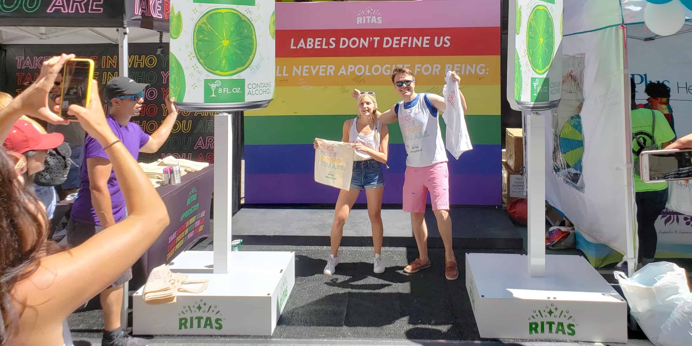 Ritas Alcohol Drink NYC Pride Festival Booth Marketing Experiential Activation - New York City