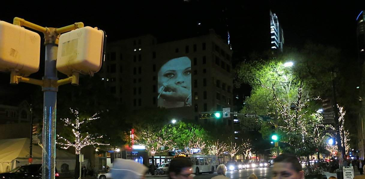 SXSW Guerilla Building Advertising Projection - Austin, TX