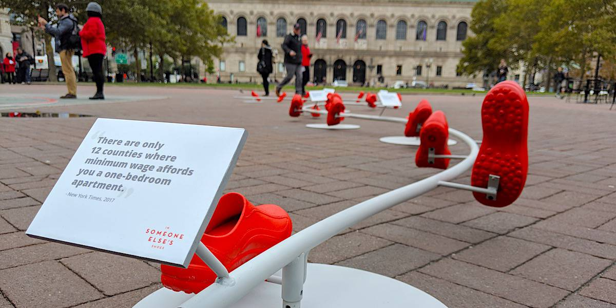 Santander Bank Cause Marketing Brand Installation Event Marketing Activation Permit - Copley Square, Boston