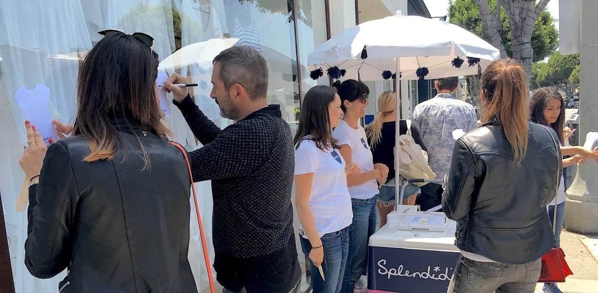 Splendid Retail Store Experiential Activation Marketing Example - Santa Monica, CA